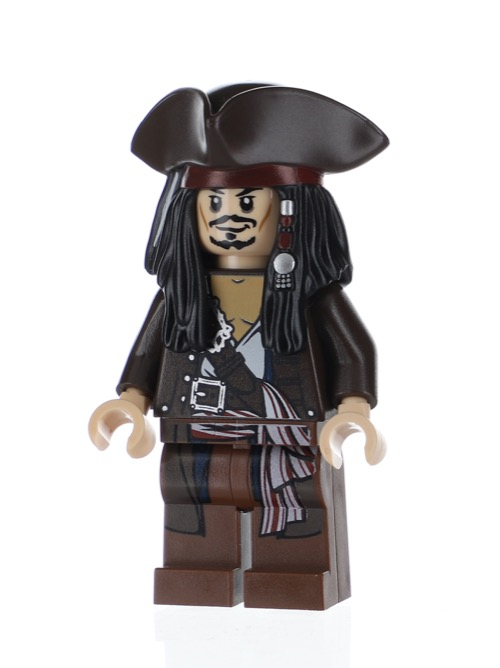Pirates of the Caribbean lego mini figure JACK SPARROW 4195 4194 4193 30131